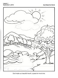 Creation Coloring Pages With For Preschoolers