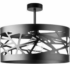 schwarze deckenleuchte breiter schirm modernes design
