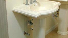 Aquasource Pedestal Sink Manual by How To Install A Pedestal Sink Video Diy
