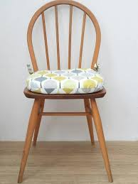 Seat Pad Chair Cushion, Removable Zipped Cover, Garden Chair Pad, Dining  Room, Kitchen Chairs, D-shaped Cushion, Verve Yellow.