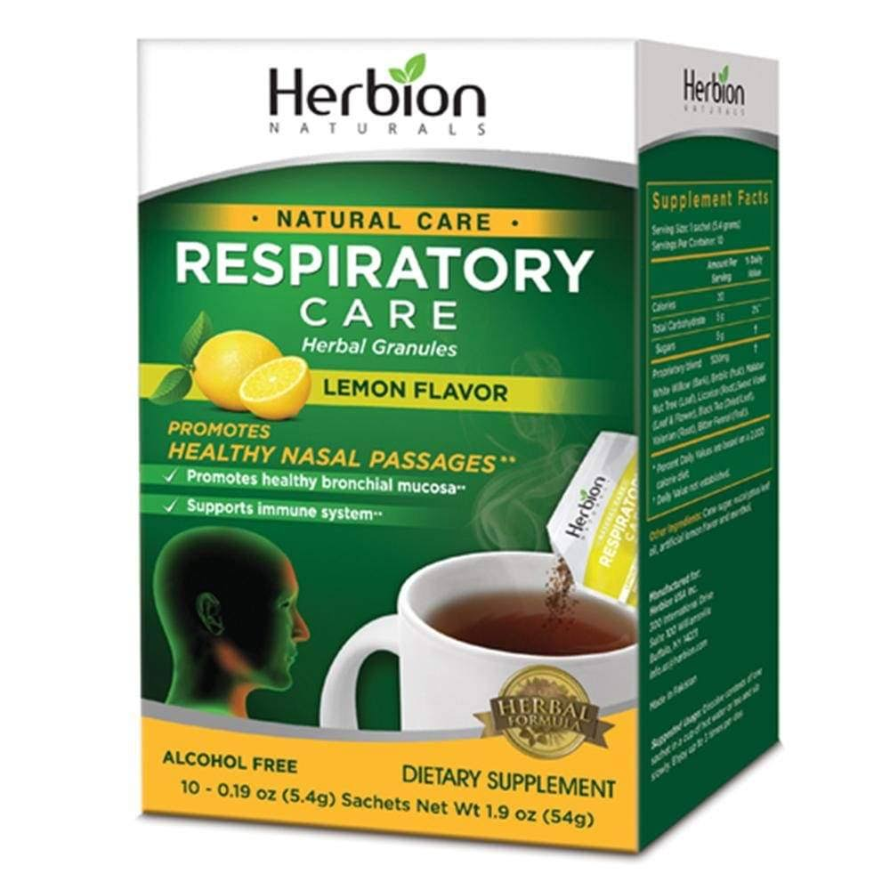 Herbion Natural Care Respiratory Care Herbal Granules - Lemon Flavor, 10 Sachets, 54g