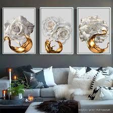 splash abstrakt wandbild dekoration weiße 3 teilig