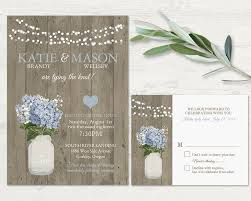 Printable Mason Jar Wedding Invitation Rustic French