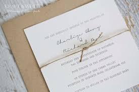 Sample Wedding Invitation Set Suite Organic By Kraftandwhite
