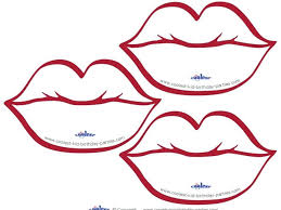 Coloring Pages Printable Lips Page Kissing Lippy