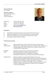 Resume In English Sample Samples Doc Examples Example