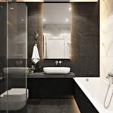 2 Masculine Interiors In Shades Of Grey Black Brown 室 衛浴