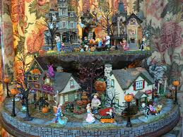 Lemax Halloween Village Displays by My 2009 Halloween Village Display Halloween Village Display And