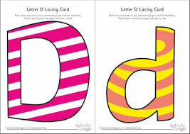 Alphabet Lacing Cards Letters Printable Coloured