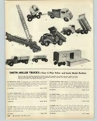 100 Smith Miller Trucks 1954 PAPER AD Toy Searchlight Blue Diamond Dump