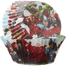 Katzwhiskas The Avengers Cup Cake Muffin Cases 50