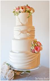 A Romantic Wedding Cake Designed After Our Brides Dress With Fresh Flowers By The Pastry Studio Daytona Beach Fl
