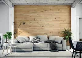 wandverkleidung aus echtholz eiche holz wohnzimmer