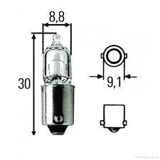 hella hella halogen interior l bulb 12v 6w ba9s base