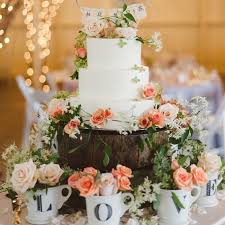 Beautiful Wedding Cake Display Gallery Inspiration Love The Idea Of Filling Teacups With Flowers Below