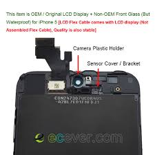Replacement For iPhone 5 LCD Screen Touch Digitizer Assembly Black