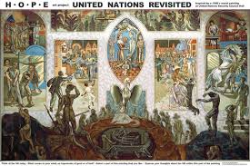 Denver International Airport Murals Explained by Eerie Mural In The Un Security Council Chamber Page 1