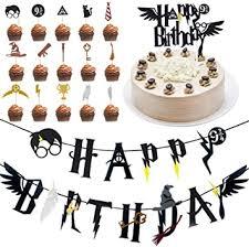 homek harry potter tortendeko 17 stücke harry potter geburtstag cake topper banner zauberer thema cupcake toppers partydekorationen kuchen topper
