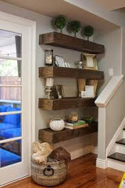 Floating Shelves Are A Great Choice For Small Space In Your Living Room Like The Corner Next To Stairs