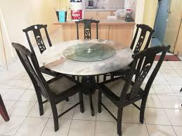 Round Marble Dining Table & Chairs, Home & Furniture ...