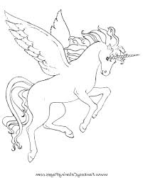 Unicorn Pegasus Coloring Pages Free