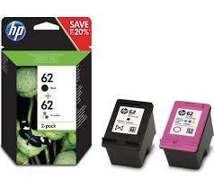 HP 62 Black Tri Colour Ink Cartridges