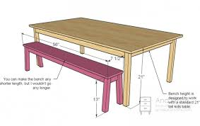 Dining Bench Height Room Ideas Table Dimensions