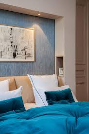 wandgestaltung schlafzimmer blau caseconrad