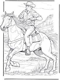 Cowboy Horse Coloring Page 1000 Images About Pages