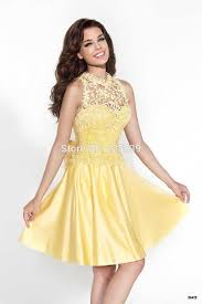 cheap yellow homecoming dresses cocktail dresses 2016