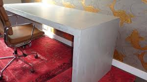 bureau beton ciré bureau sur mesure en beton cire