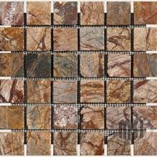 cafe forest tumbled square pattern mesh mounted marble tiles
