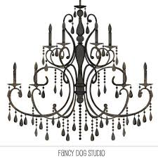 Chandelier Clip Art Silhouette Digital Instant Download 400 Via Etsy