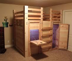 Cabin Bunk Beds For Kids Loft Bed Plans The Fort Grace Pinterest