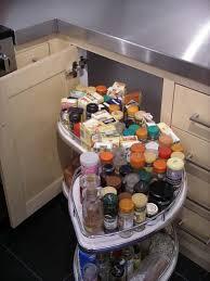 Corner Kitchen Cabinet Storage Ideas by Kitchen Corner Cabinet With Pull Out Storage Extended Kitchen