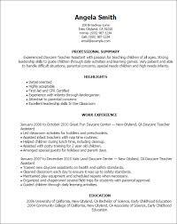 Sample Resume For Preschool Teacher Assistant Fresh Examples Resumes