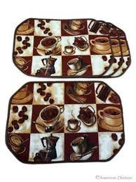 Coffee Themed Kitchen Accessories Hobby Lobby Decor Placemat Hexagonal Placement Shape
