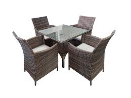 Wicker 6 Piece Large Patio Set