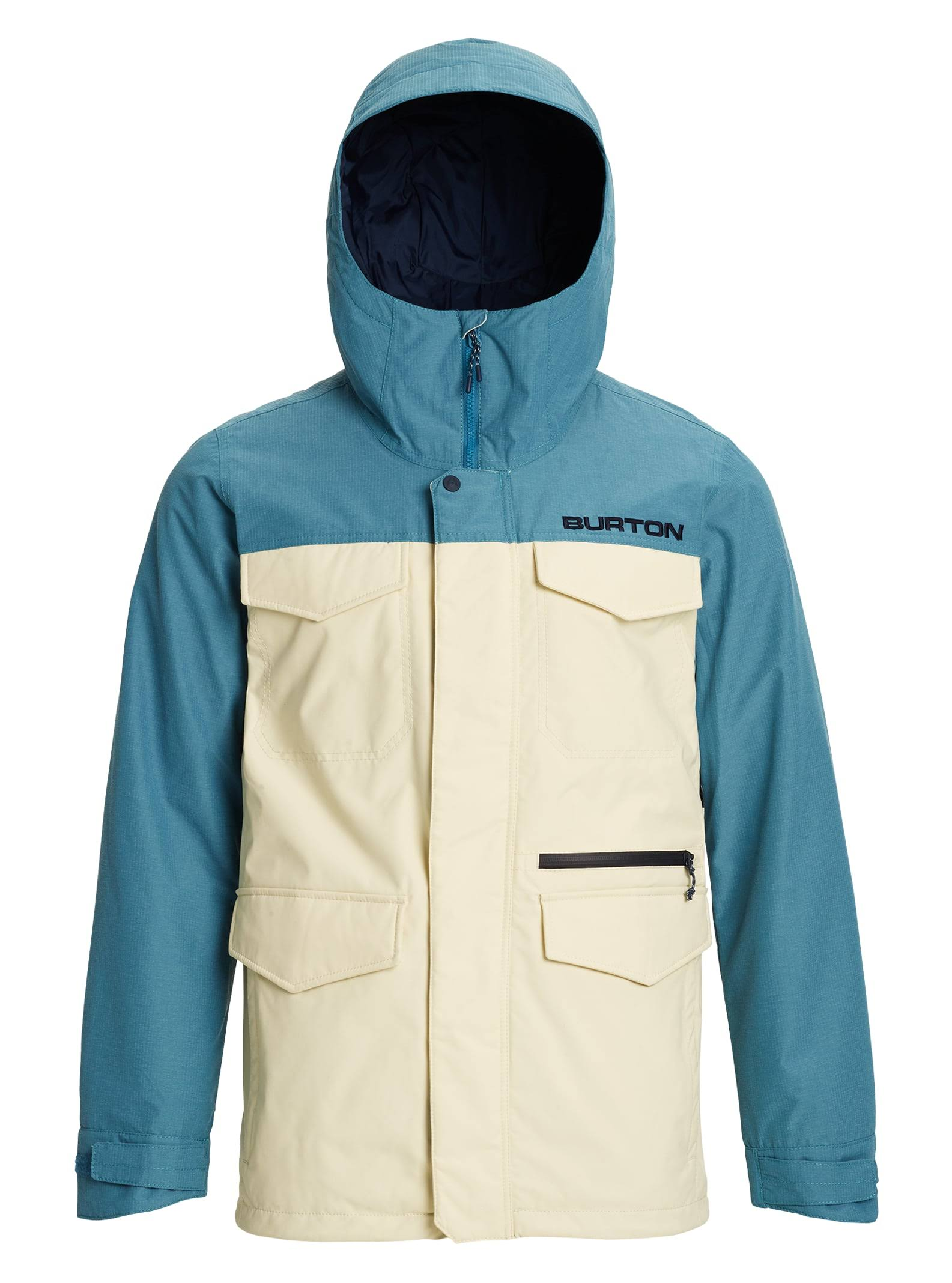 Burton Covert Jacket Men's- Almond Milk/ Storm Blue