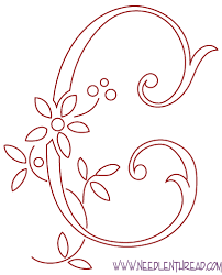 Free Pattern Monogram for Hand Embroidery – The Real C