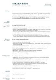 Communications Manager - Resume Samples And Templates | VisualCV 01 Year Experience Oracle Dba Verbal Communication Marketing And Communications Resume New Grad 011 Esthetician Skills Inspirational Business Professional Sallite Operator Templates To Example With A Key Section Public Relations Sample Communication Infographic Template Full Guide Office Clerk 12 Samples Pdf 2019 Good Examples Souvirsenfancexyz Digital Velvet Jobs By Real People Officer Community Service Codinator