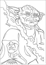 Click To See Printable Version Of Yoda And Palpatine Coloring Page