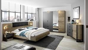 places of style schlafzimmer set malthe set 4 tlg 2 nachtkonsolen inkl beleuchtung bett mit liegefläche 180x200 cm kleiderschrank mit 4