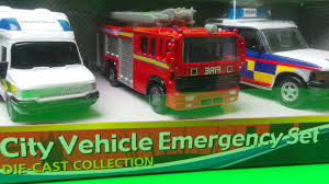 TOP 3 EMERGENCY VEHICLE TOY POLICE CAR, PARAMEDIC AMBULANCE And FIRE ...