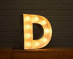 light up marquee bulb letters d by goodwin & goodwin