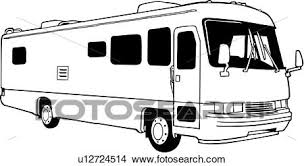 Clipart Of Automobile Bus Camper Motorhome Recreation
