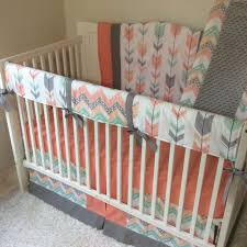 Coral And Mint Baby Bedding by 34 Best Tribal Aztec And Arrows Crib Bedding Ideas Images On