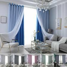 voile doppelschicht vorhänge blickdicht gardinen vorhang