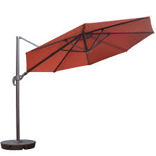 Sams Club Sunbrella Patio Umbrella by Hampton Bay 11 Ft Led Offset Patio Umbrella In Sunbrella Henna