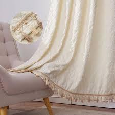 europäischen stil elfenbein geometrische dekorative vorhänge fenster für wohnzimmer creme käse grid muster vorhänge für die schlafzimmer